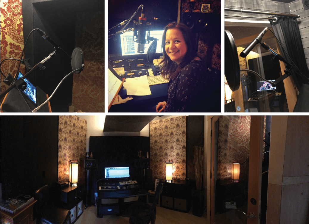 Michelle Sundholm Voice Over Artist Studio Image